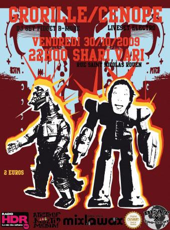 Cenope Grorille DJ set Electro Rouen Shari Vari vendredi 30 octobre 2009