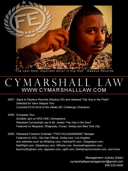 cymarshall law's bio