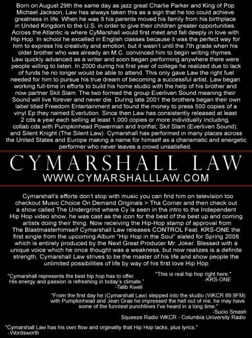 cymarshall law's bio 2
