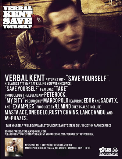 verbal kent save yourself poster