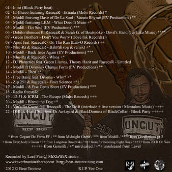 beat trotterz mixtape volume 4 starring 12:51 aka racecar back cover