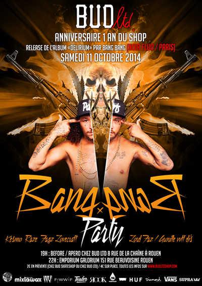 Concert Bang Bang (Noir Fluo - paris) le samedi 11 octobre 2014 à l Emporium Galorium Rouen