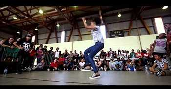 Ladia Yates battles 7 girls in a row and wins (Paris France) video