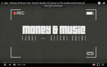 E Jake feat. Geechi Suede - Money N Music video