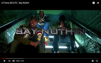 Lil Fame (M.O.P) - Say Nothin video