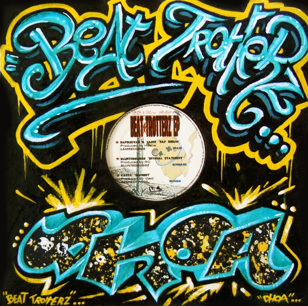 Beat Trotterz vinyl cover customized by DHOA