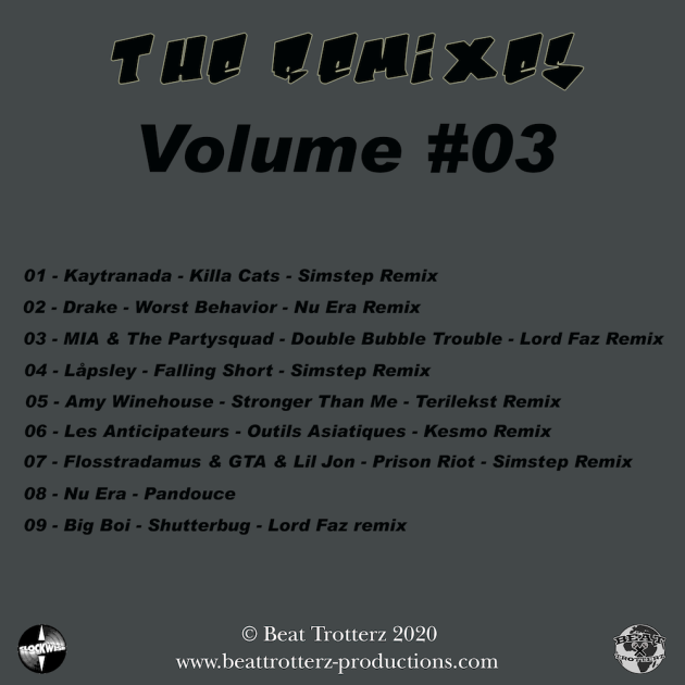 Beat Trotterz - The Remixes Volume #03 back cover