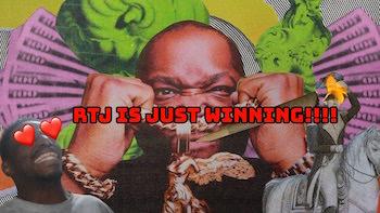 Run The Jewels feat. Pharrell Williams and Zack de la Rocha - JU$T lyric video
